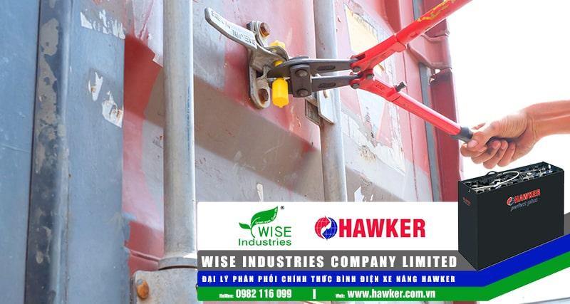 Bình điện xe nâng Hawker - Hàng mới về tháng 10-2019