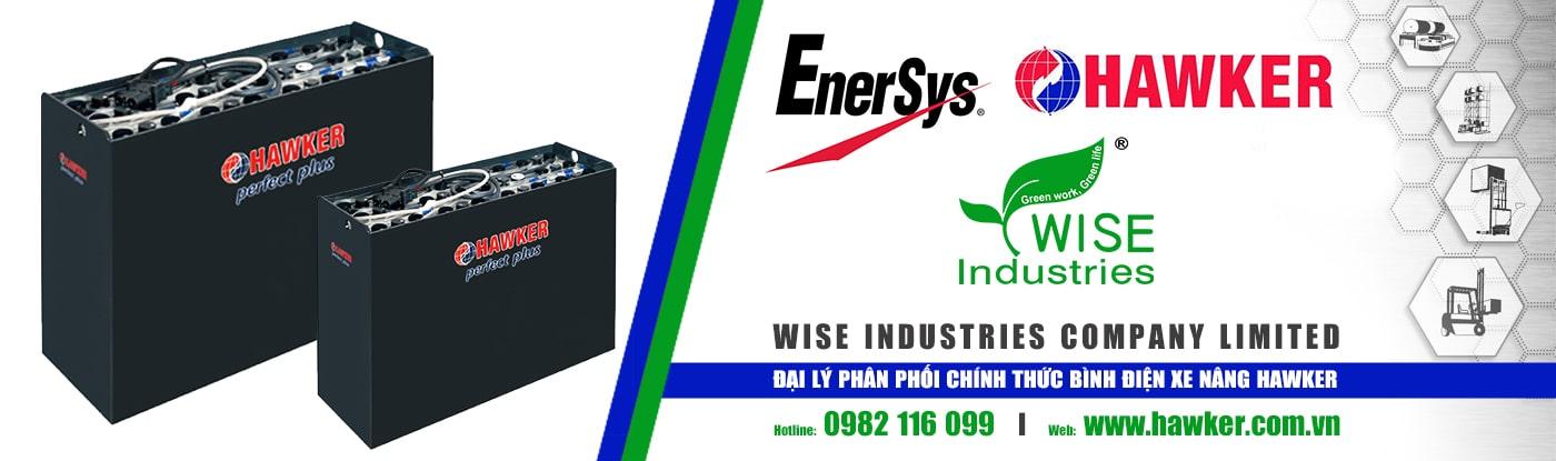 Wise Industries - Đại lý phân phối chính thức bình điện xe nâng HAWKER